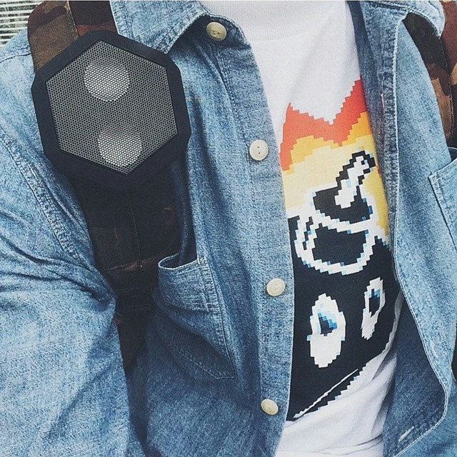 Not only portable but hands free! #ULTRAportable #wearable #clipable #bluetooth #speaker #livelifeloud #thehundreds #