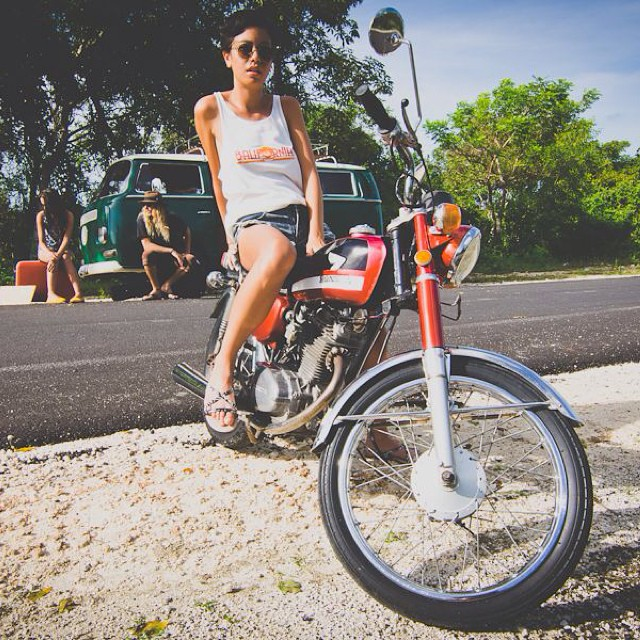 Motorbike Monday - one hot Balifornia day