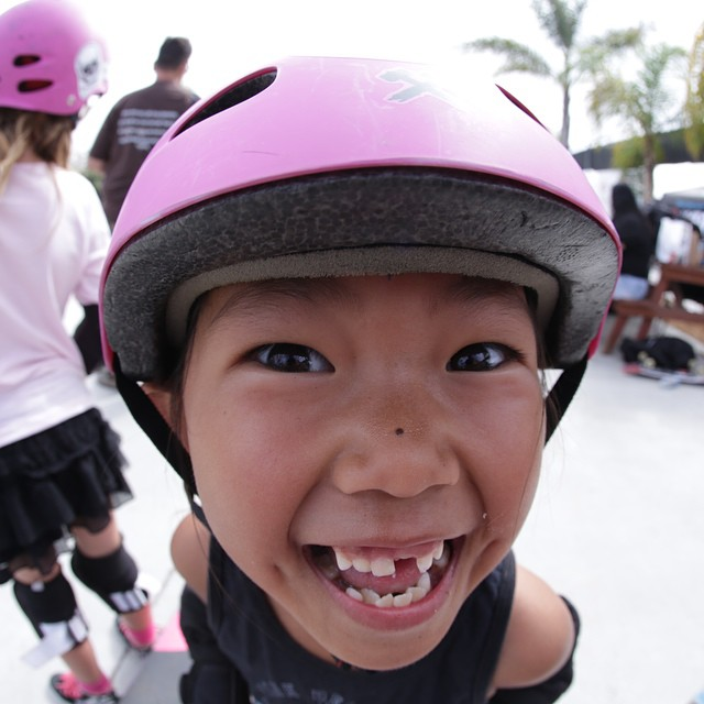 Bet this #smile makes you smile! #Skateboarding breeds smiles. Relz Murphy of the @pinkhelmetposse at #EXPOSURE2013.