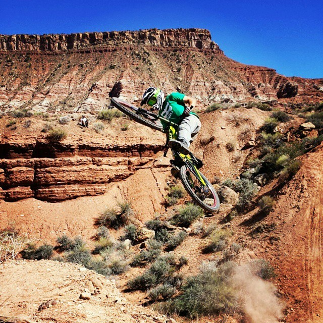 Regram: @buenosdiaz683 out digging for @nicholirogatkin as he gets dialed in #redbullrampage