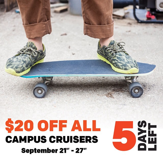 Five days left to get $20 off all campus cruisers. We spent the morning assembling a ton of boards! #handmade #skateboards #nashville