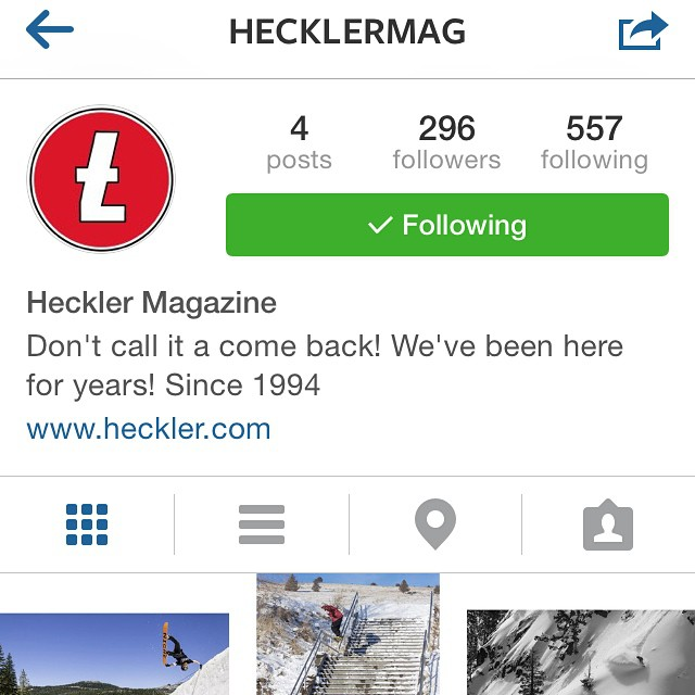 Heckler Magazine has a new Instagram!! Check out @hecklermag, you won't be disappointed!! #supportlocal #goodpeople #greatmagazine #academykidsrule