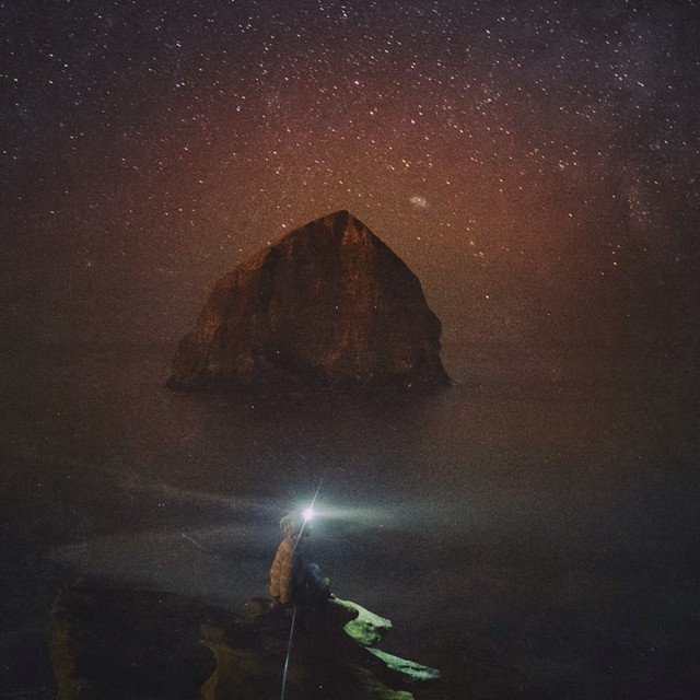 Yeah, Oregon's alright. #firewaterfriends #beach #stars // Rad photo from our buddy @suredude!
