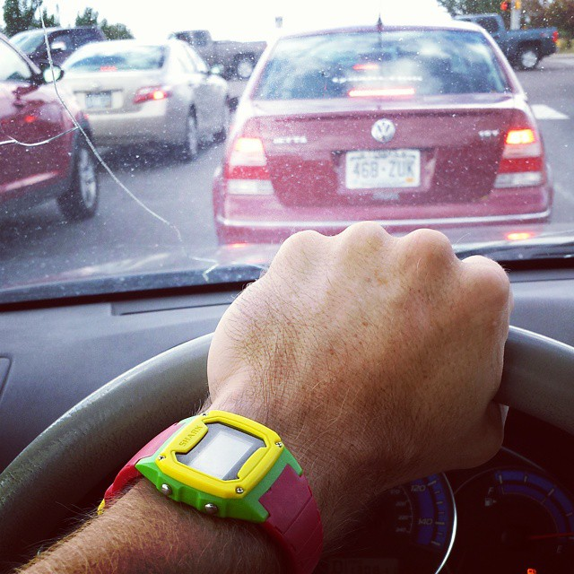 Least favorite time of day. 1 hour to go 15 miles.  At least I can look at my awesome @freestyle_watch