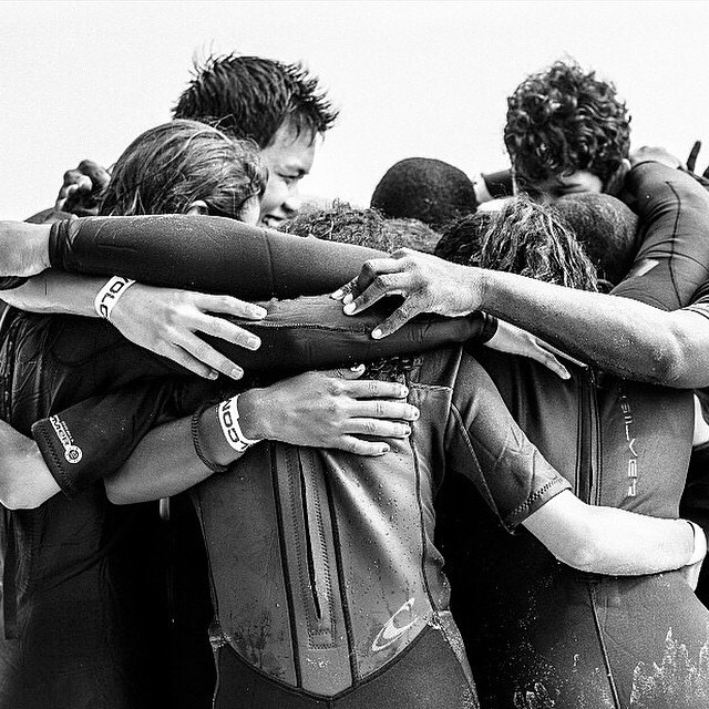 #STOKEDorg is a family. When one rises, we all rise. A picture from our day at the beach at #volcomunsoundpro. Photo by: Emily Winiker. #opportunity #surfing #stokednyc