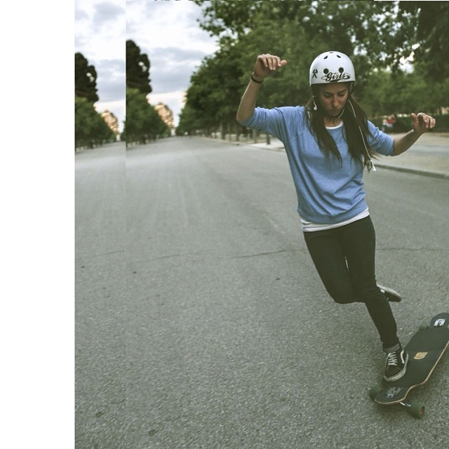 @valeriakechichian having fun in #Madrid Pic Nicholas Littlefield. Have a great weekend everyone and be safe! #skateforfun
