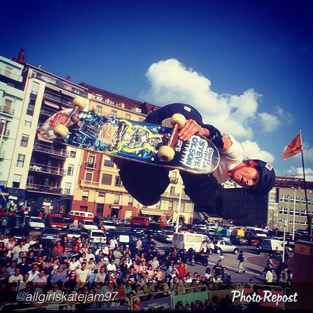 Super rad shot of @carabethburnside in Spain. #skateboarding #skate #skatelife #sk8 #og #pioneer