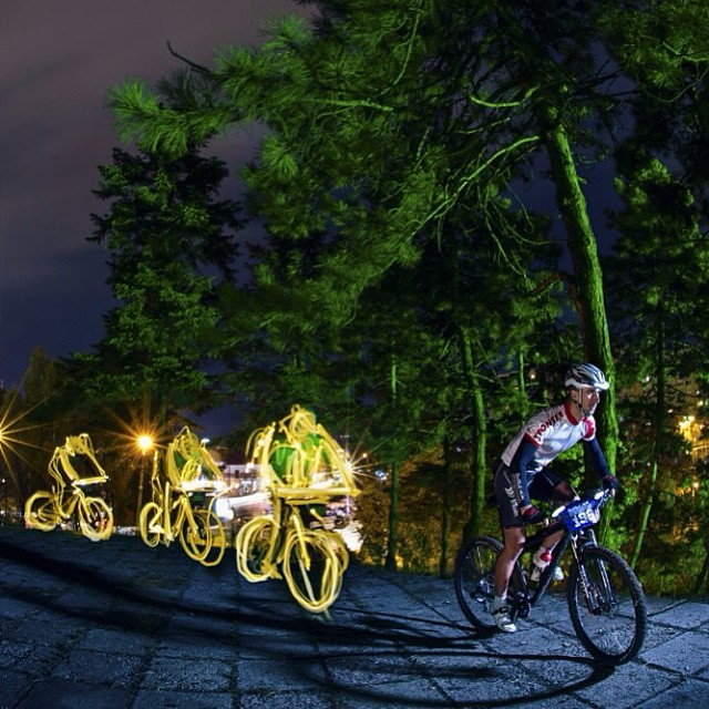 Ride into the night. #givesyouwings