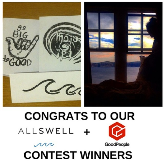 Lots of congrats are in order to @duffyrebecca & @g_i_jordan for winning the @goodpeoplelife x AllSwell Instagram contest. Can't wait to see what adventures your notebooks take you on. Also, we're supporting @wavesforwater's disaster relief efforts in...