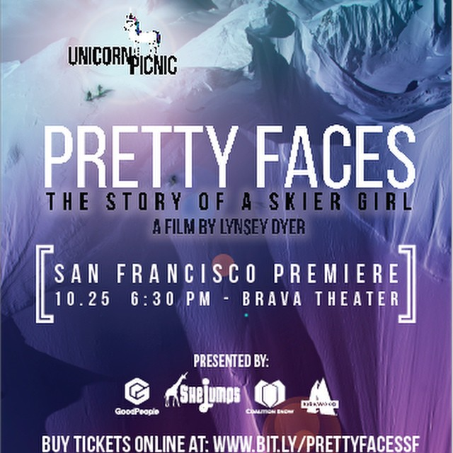 [ Big Event Reminder // Save The Date 10/25 ] If you haven't already heard we are hosting the #SanFrancisco Premiere of @lynseydyer's All Women Shred Flick @prettyfacesmovie along side @coalitionsnow and @shejumps at the Brava Theater on October 25 at...