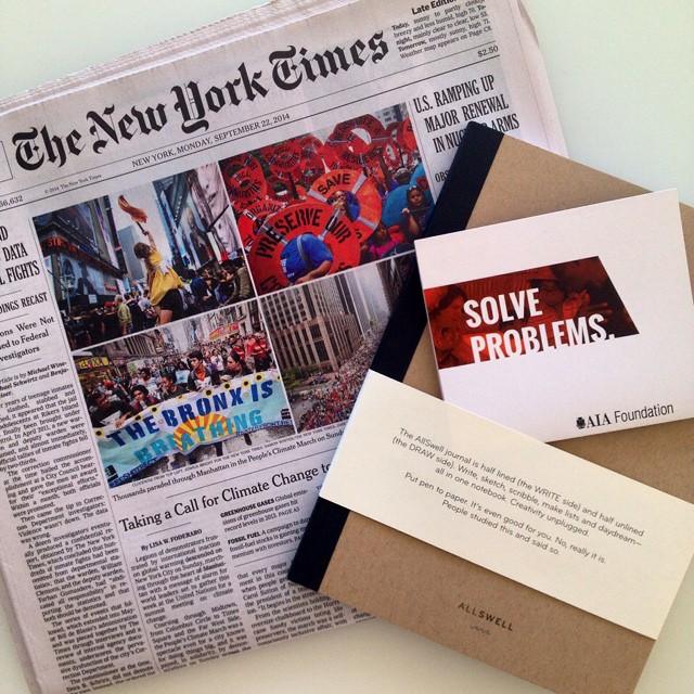 In good company at the #NewYorkTimes building with the American Institute of Architects launching their charitable foundation. They asked AllSwell to participate in their mission to transform lives through impactful design. #newyork #nytimes #architect...