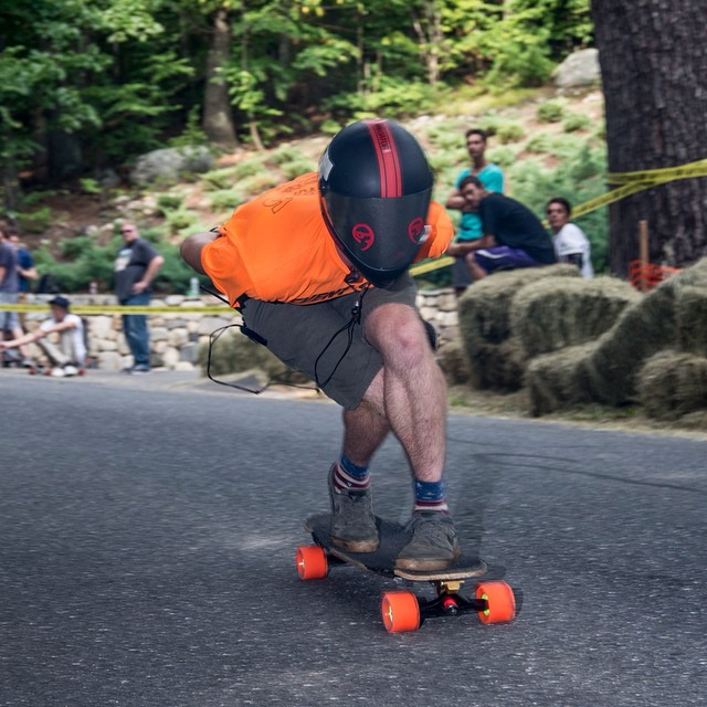 @emgeemann, the organizer of #CentralMass5, getting runs in between heats. Check out his recap of the event on the @loadedboards blog. #SkateCentralMA
