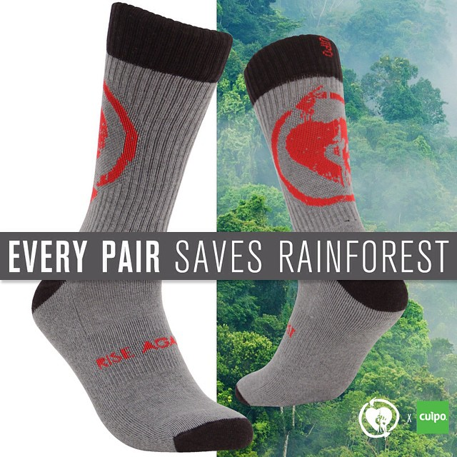 These @RiseAgainst #cuipoartistsocks are going fast!! Get your pair before they're gone #riseagainst #saverainforest #limitededition