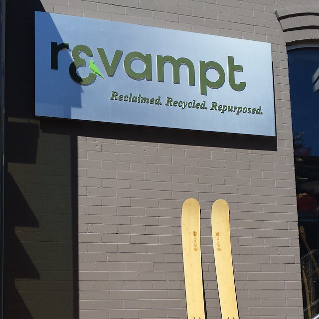 @revamptgoods supplying Denver with our  re-purposed goods. Cutting boards and coasters. #bamboo