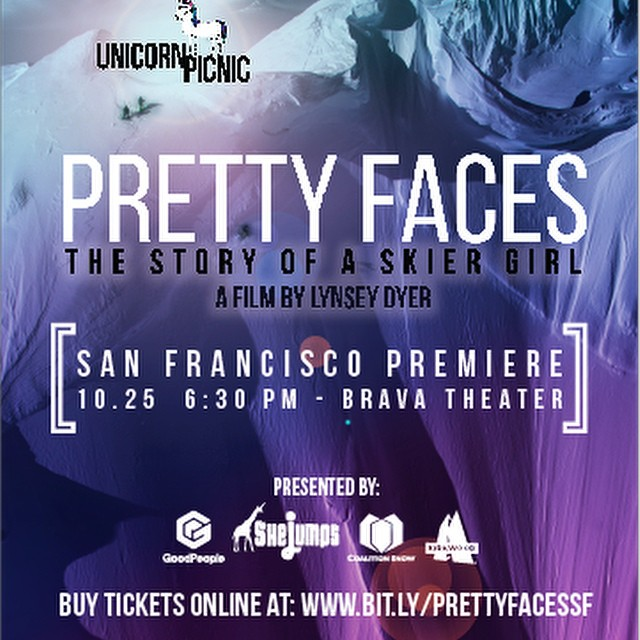 So #stoked for the #SanFrancisco Premier of #Pretty Faces coming at ya October 25 @ 6:30 PM hosted by @goodpeoplelife @coalitionsnow @shejumps - I'll be there - will you? Get your tickets here:...