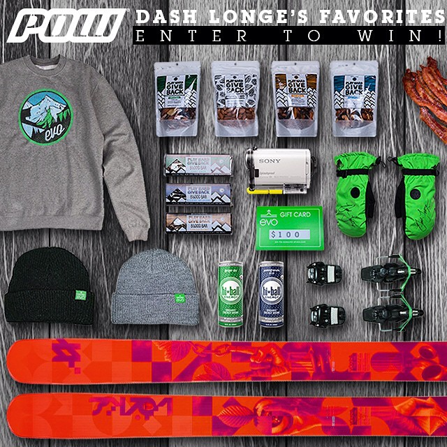 We have teamed up with @dlonge and his other sponsors to giveaway all his favorite gear! Win POW gloves Tallac Mitts, Volkl Skis, Marker Jester Bindings, Sony Action Cam, AND of course #phgb Trail Mix and Bars!!! Go to http://woo box.com/9rbstk
