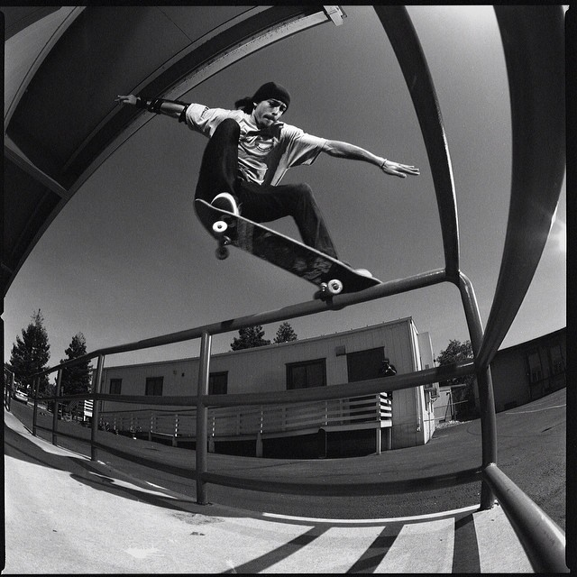 @muchnikphoto from #issue32 #steezmagzine of @emerybored with a healthy #crook #popout #skateboarding