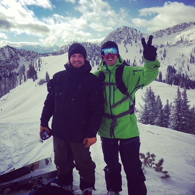 Finding good pow with great friends above Alta this morning. A great first day of the season for Abma and Sterbenz.