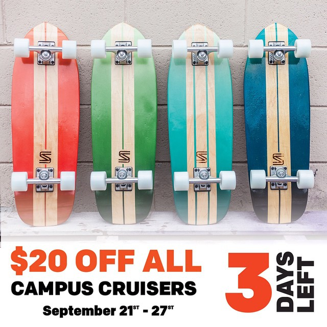 Three more days! Go grab a board while they are $20 off! #handmade #skateboards #nashville