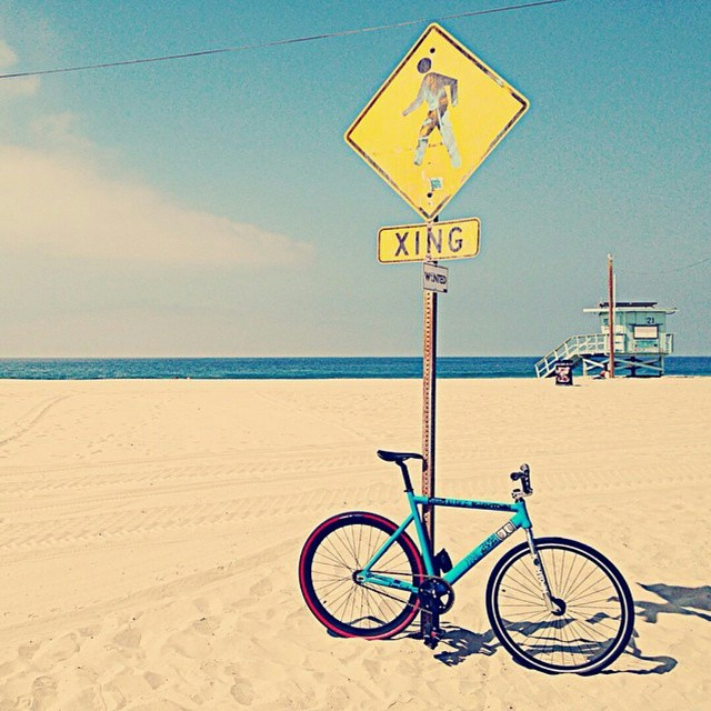 #regram #fixiegoons #losangeles #santamonica #beach #exploreyourcity #statebicycle