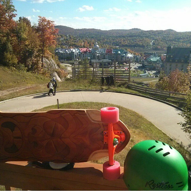 @nikodh hitting the luge track yesterday in the North of Montreal. #restlessboards #restlessNKD