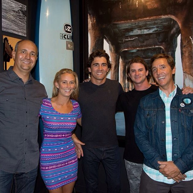 The ambassadors of @sustainsurf all together in one room...and dry! @gerglong @a_gray  Honored to be on a team of such inspiring men who are not only unbelievable big waves surfers, but also big hearted people who care about preserving our planet for...