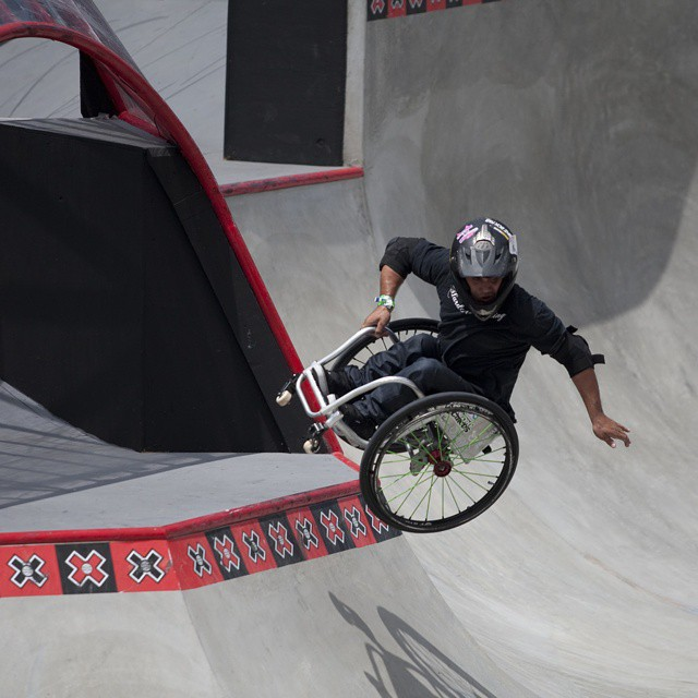 "Aaron ""Wheelz"" Fotheringham doesn't slow down for anyone or anything!  Our Adaptive Action show airs this Sunday at 4 pm ET/2 pm PT on ABC. ("