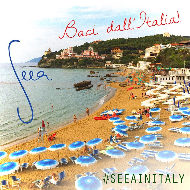 We're in Italy! Travel with us as we shoot our 2015 collection in the Italian Riviera. Watch closely at the photos for a special giveaway at the end! #seeainitaly