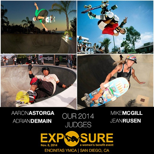 We're hyped to let you know who we have on board for judges at #EXPOSURE2014! --- Aaron ASTORGA (@ask8s) - A ripping skater and surfer and a major style master in everything he does. Aaron has judged at EXPOSURE before and is this year's head...