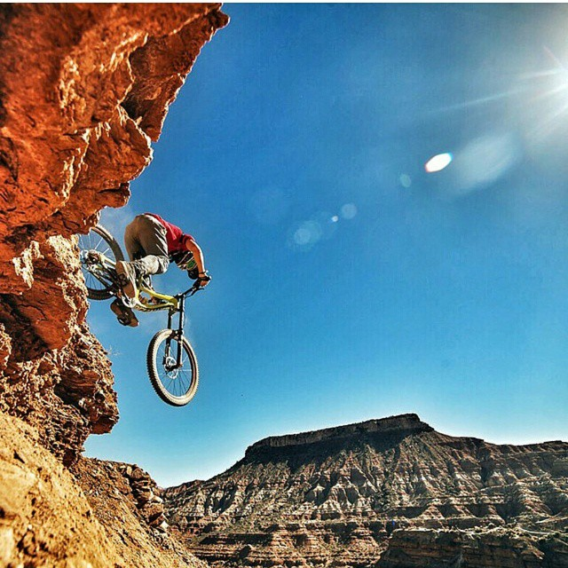 Regram: @nicholirogatkin set to take his second run tomorrow, great shot from our friends @mtbnews