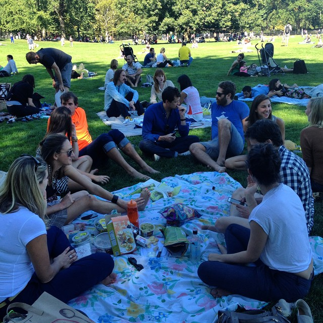 Central Park Friends Gathering: Riverdale, Michigan, Vail, Friends of Friends, Girlfriends, Fiancés #MeltingPot #NewYorkCity #centralpark #sheepsmeadoew #indiansummer #fall #picnic #Friends