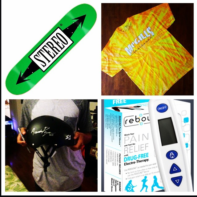 This the @austinpoynter Instagram giveaway! To enter repost this and tag #s1helmets #stereoskateboards #mcgills #reboundactiv We will pick a winner in a few days. the lucky winner gets a #stereoskateboard a #mcgillsskateshop tshirt #s1 #lifer #helmet...