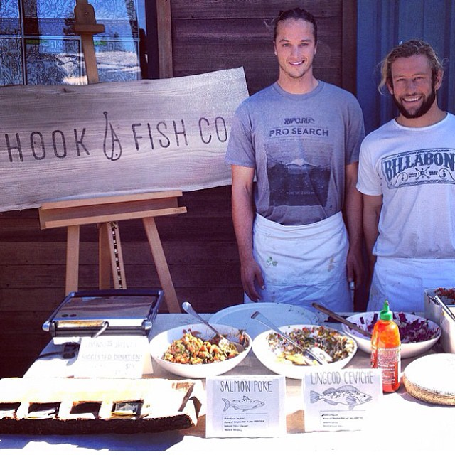 So excited to have @hookfishco provide grub for the #sloated after party at @aquasurfshop tomorrow night! Nothin better than hook and line caught fish tacos after surfing with 40 ladies! #partytimeexcellent #oceanbeach #surf #theseguysrock #sunsetsf...
