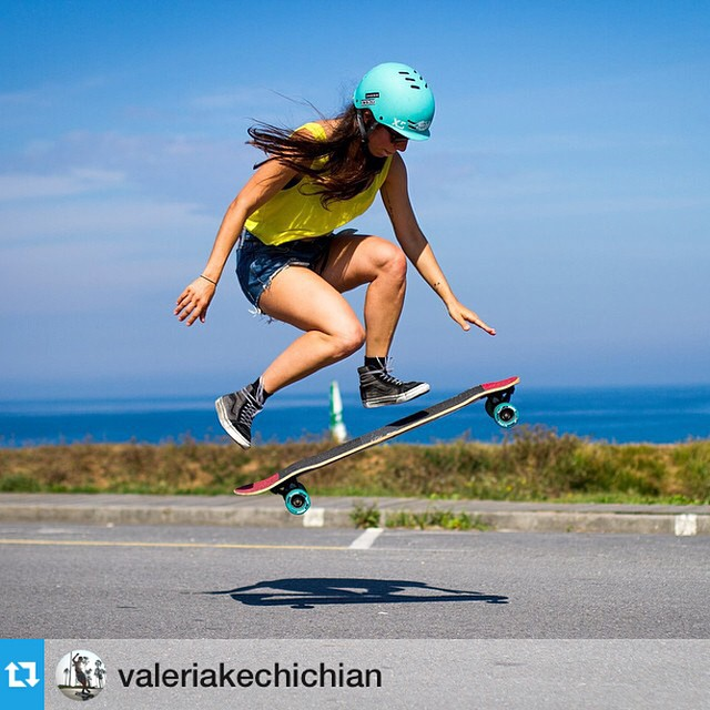@valeriakechichian - nothing can keep her down!! #repost from @valeriakechichian --- Always, keep on going. @tony3sixty photo. All these people keep me going as well #concretewaveskateshop #iconelongboards #hawgswheels #nnimclothing #vans