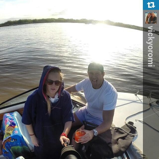 #Repost from @vickyoromi with @repostapp —  Inagura la temporada de rio vicky oromi cc @elmandarinasurf