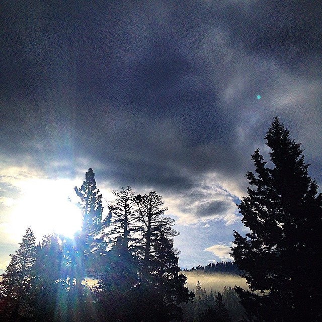 Mystic morning in Tahoe. 9.28.2014 #riseinspired #natureinspired #sunray