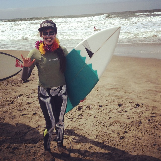 """Good Human @summerfenton crushed it today at the all women's surf competition """"Sloated"""" at Ocean Beach. Summer and her team @sunset_shapers dominated out in the water and took home """"Best Costume"""". Way to go team! #goodhumancrew #sunsetshapers #sloated..."""