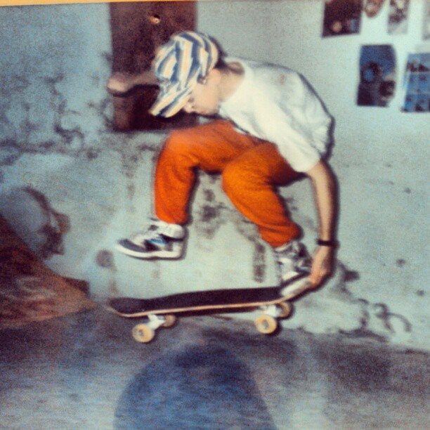 Ollie north early '90's. #throwbackthursdays #sweatpants