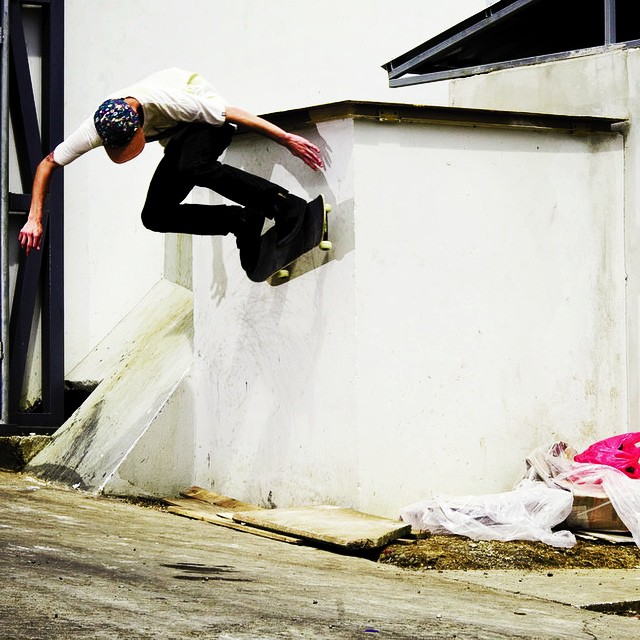 I'll use the wall. Hola from San Jose. #skate #costarica