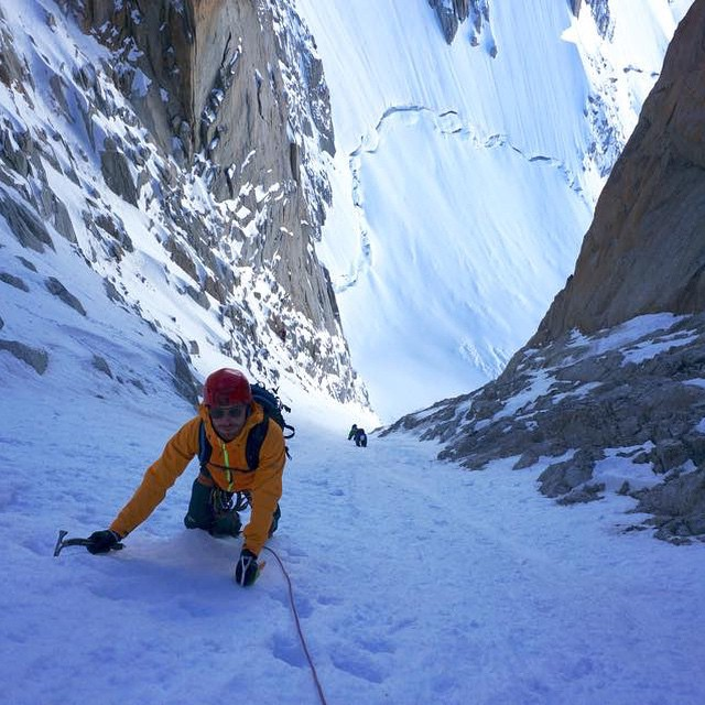 Bosky athlete @francescohekla climbing Mont Blanc in Italy with a pair of his Bosky sunglasses #bosky