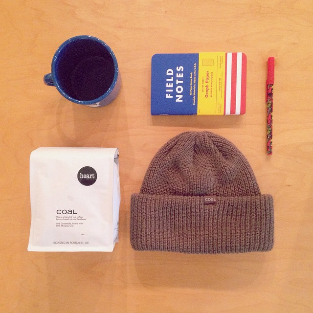 We chose to celebrate #nationalcoffeeday by sporting The Stanley beanie and sipping a cup of @heartroasters. Do you drink coffee to experience #fineliving?