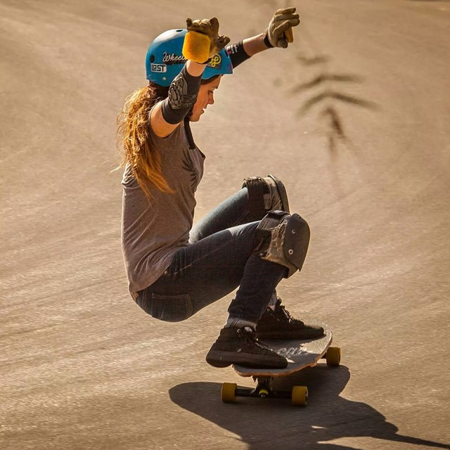 The amazing @pandaskate sliding California's finest. Maria Arndt photo. #longboardgirlscrew #girlswhoshred