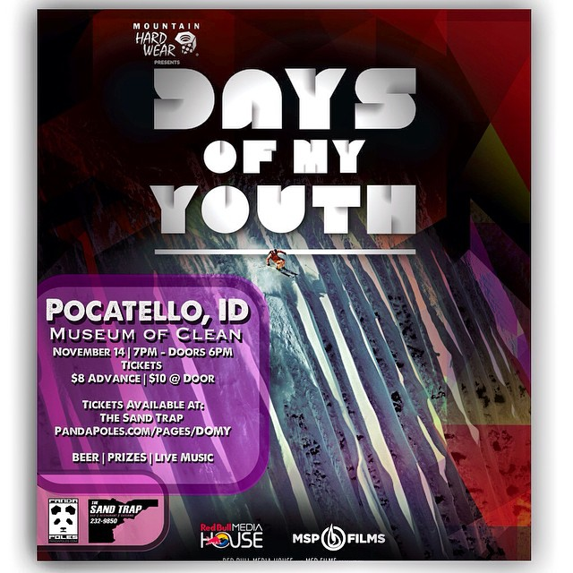 "​We are honored to be hosting the Pocatello Premier of Matchstick Production's ""Days of My Youth""​! Join us Friday, ​Nov. 14th​, 7PM​ at the Museum of Clean ​Event center, as Pocatello local Sander Hadley​ makes his debut performance​ as a starring..."