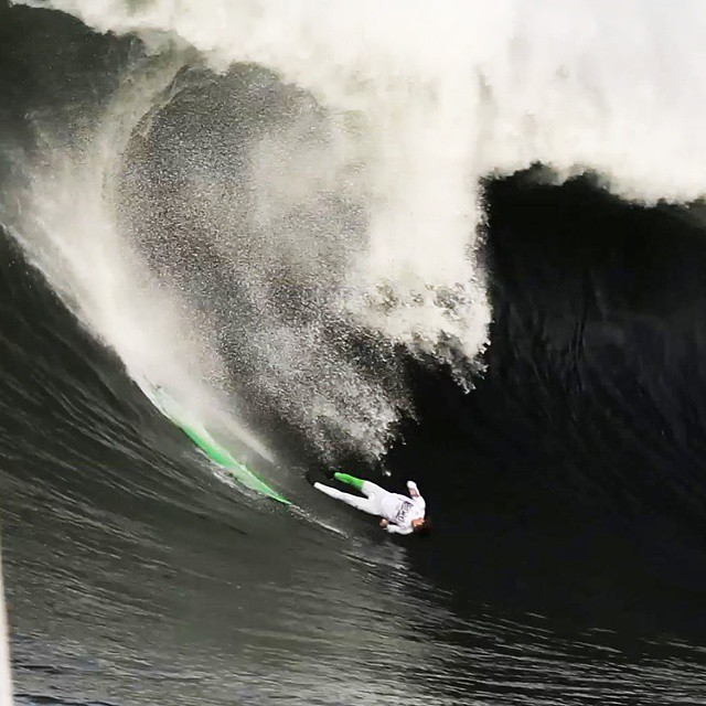 """Big wave surfers regularly catch spectacular waves.  But, they also take a lot of them on the head.""-Sam George  #BigWaveHellmen returns tonight at 8 pm ET on ESPN2. ("