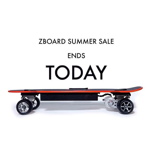 The ZBoard Summer Sale ends in less than 24 hours!  Check zboardshop.com/summer before it's too late!