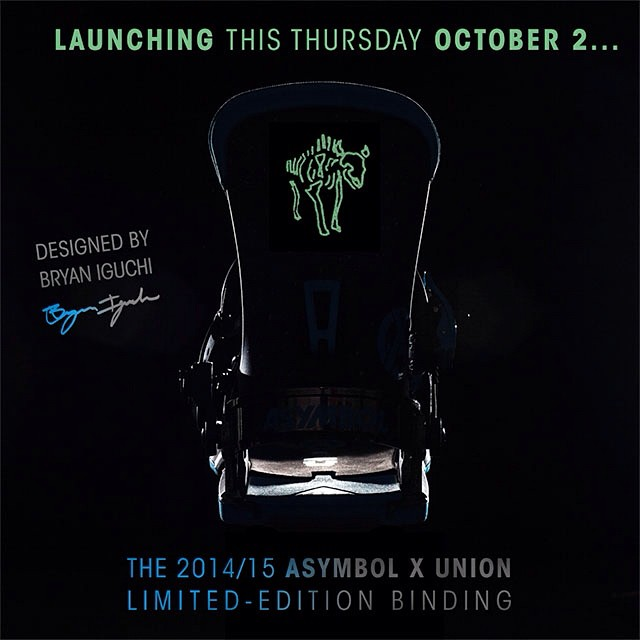 Thursday October 2nd! @bryaniguchi  x @unionbindingco binding collab for Asymbol. #allwillberevealed #unionbindingco
