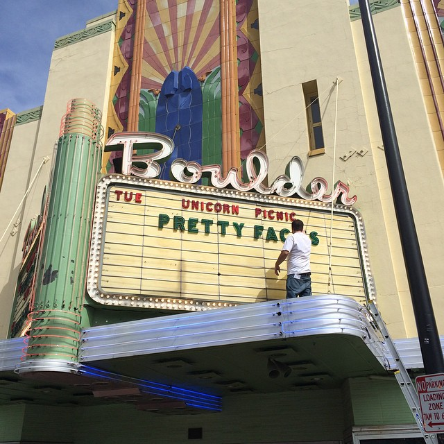 Excited!! We are in Boulder for the sold out world premiere of #PrettyFaces, all girls ski film by @lynseydyer presented by #unicornpicnic!!! Follow @prettyfacesmovie for info on the tour. #boulder #historic #theatre #ski #girlswhoshred #inspiration...