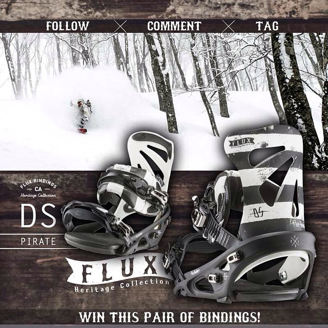 WIN FLUX! Flux Bindings is giving away this set of DS Pirate Bindings from the new Heritage Collection! To Enter: FOLLOW this gram feed, make a COMMENT on this post and TAG three of your friends in your comment. The winner will be selected by Flux team...