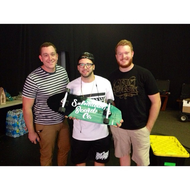 Pumped to make this board for @andymineo to take on his upcoming tour. #handmade #skateboards #nashville