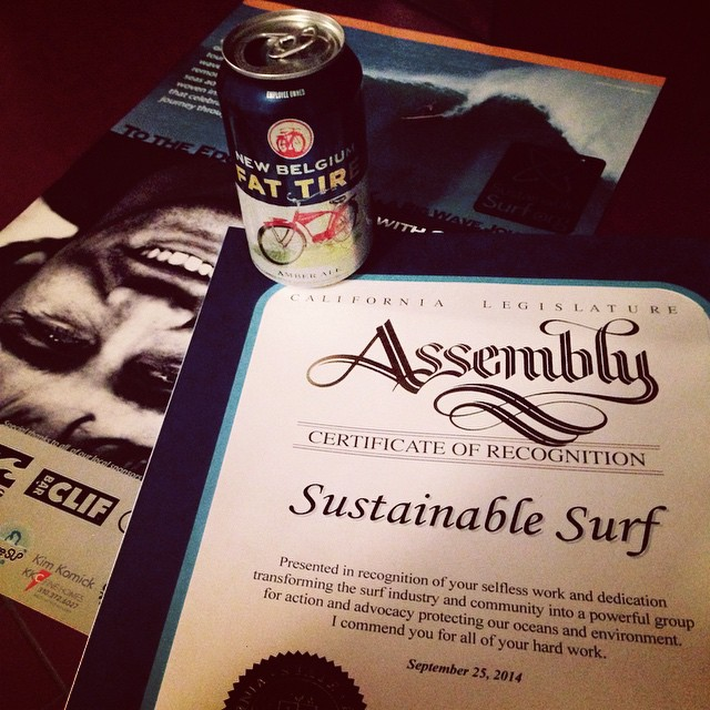 So stoked to have received this award onstage at our event with Greg Long from CA Assembly Member, Al Muratsuchi, a true advocate for environmental issues in LA's Southbay, and a proud member of the surfing caucus. We are also very thankful for having...